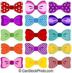 Bow collection - Collection of color bows