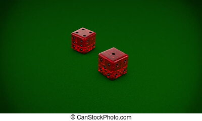 Casino Serie Dices - Variation of dice moves