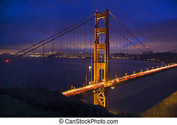 Golden Gate Bridge Tall San Francisco California
