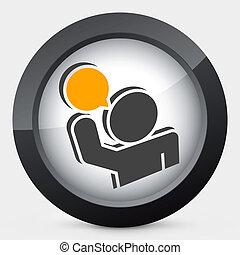 Talk icon 3d