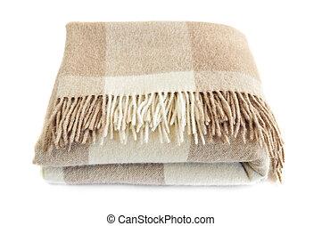 Cozy alpaca wool blanket - Soft and warm folded alpaca wool...