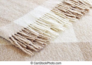 Cozy alpaca wool blanket - Soft and warm folded alpaca wool...