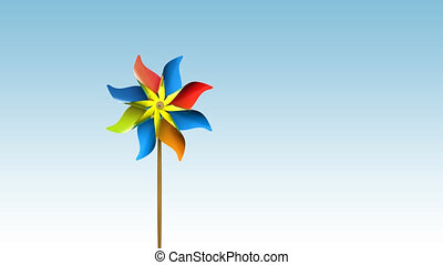 pinwheeltek HD - 3d rendered pinwheels.