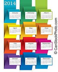 2014 calendar - vector illustration