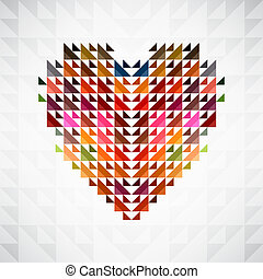 Abstract heart background. Vector. - Abstract heart shape...