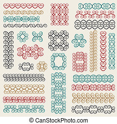 vector set: graphic design elements and page decoration -...
