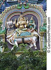 Shiva, Parvathi on Nandi - Statue of Shiva and Parvathi...