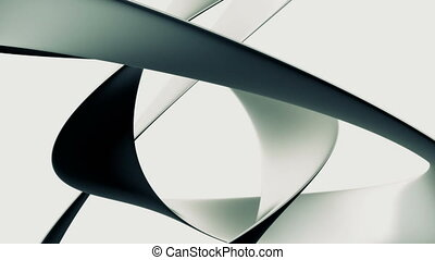 Abstract Sweep White - Loopable abstract background