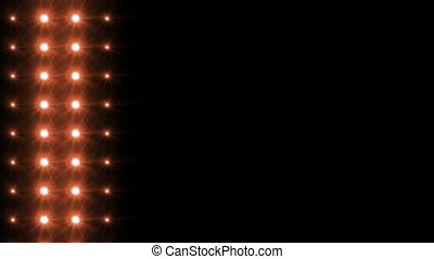 Light Orange HD - Animation of LED lights