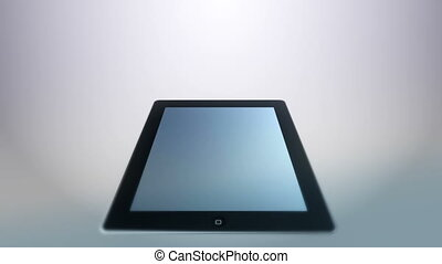 Tablet White - Animation of an tablet. Last 10 seconds loop.