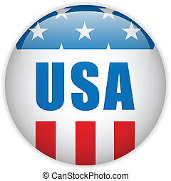 United States Independence Day Button - Vector - United...