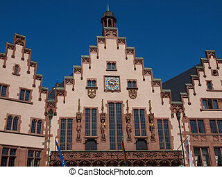 Frankfurt city hall aka Rathaus Roemer Germany