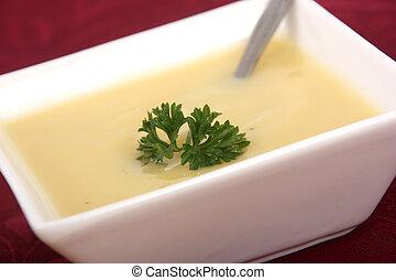 parsnip cream soup bowl