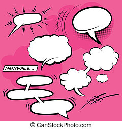 Comic Speech Bubbles - vector illustration