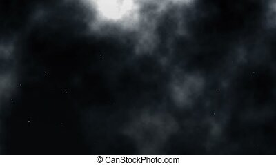 Fullmoon - Full moon behind clouds