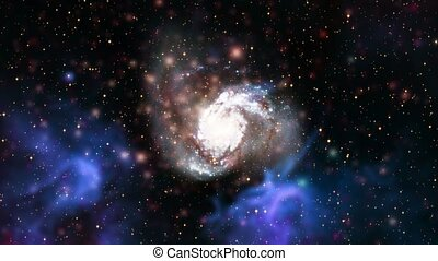 Galaxy 5 - Loopable galaxy with nasa images.