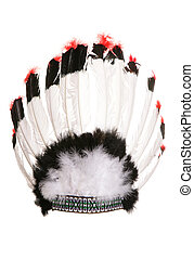 red indian cheif head dress studio cutout