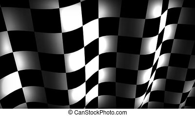 Checker flag in a smooth loop.