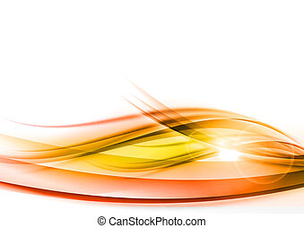orange abstract wave