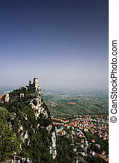 San Marino.View from castle