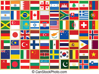 background with flag icons