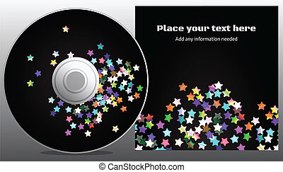 cd design - disco stars style