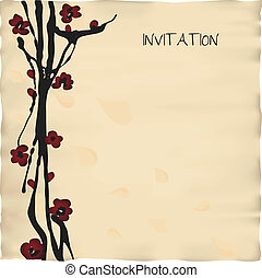 invitation card template - template in japanese or chinese...