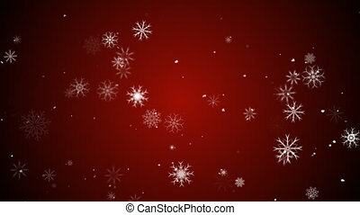 Snow Flakes - Animation of snow flakes
