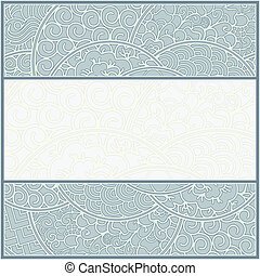 card or frame template - art-nouveau style