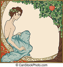 Adam - art-nouveau style illustration