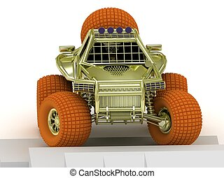 model buggy isolated - Radio-controlled model buggy isolated...