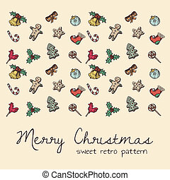 seamless pattern for christmas - sweet retro texture for...