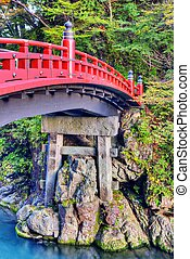 Sacred Bridge of Nikko, Japan. October 30.