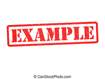 EXAMPLE Rubber Stamp over a white background.