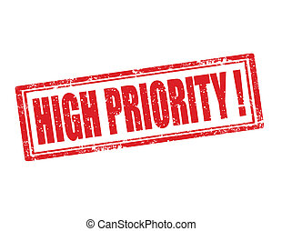 High priority-stamp - Grunge rubber stamp with text high...