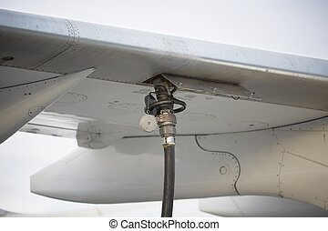 Refueling the aircraft - selective focus