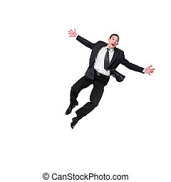 Businessman Jumping - I cant belive its a great success Look...