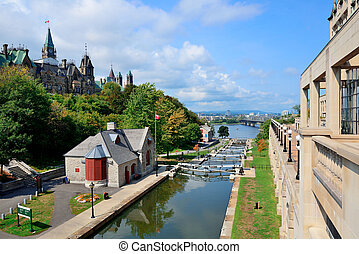 Ottawa Rideau Canal - Rideau Canal and Ottawa city view