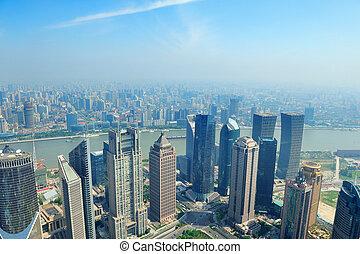 Shanghai aerial view