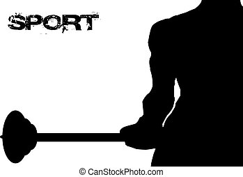 Lifting weights - Abstract background of sport