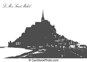 Le Mont Saint Michel - Illustration of Le Mont Saint...