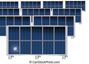 Solar panels - Solar plates isolated on white background