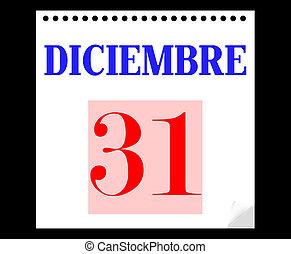 31 december in spanish