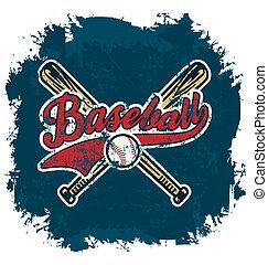 baseball crack - baseball sport vector for T-shirt printed...
