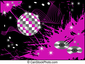 abstract disco blot background, vector illustration
