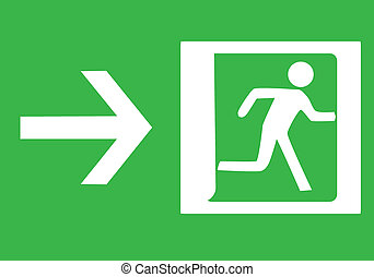 Emergency exit  - Symbol of Emergency exit-Illustration