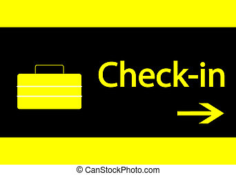 Check-in signal - Illustration of Check-in signal in the...
