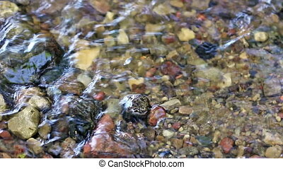 Water flow of shallow river