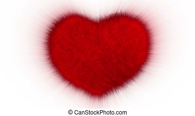 Furry Heart - Red furry comic heartbeat