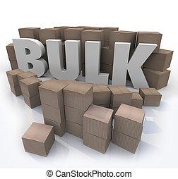 comprar, bulto, palabra, Muchos, Cajas, producto, Volumen,...